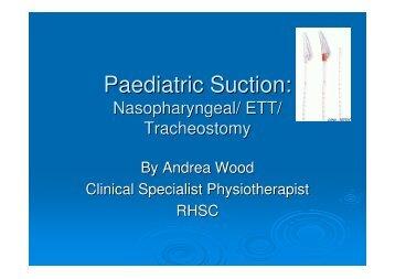 Paediatric Suction: