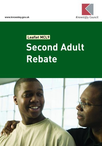 Second Adult Rebate - Knowsley Council