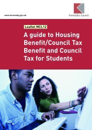 Leaflet MCL12 A guide to Housing Benefit ... - Knowsley Council