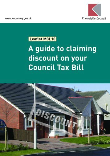 A guide to claiming discount on your Council Tax Bill - Knowsley ...