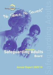 Safeguarding Adults Annual Report 2009/2010 - Knowsley Council