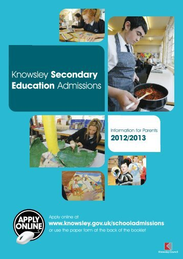 Secondary education admissions 2012/2013 ... - Knowsley Council