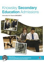 Knowsley Secondary Education Admissions - Knowsley Council