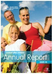 Looked after Children Annual Report 2009/2010 - Knowsley Council
