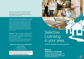 Selective Licensing in your area - Knowsley Council