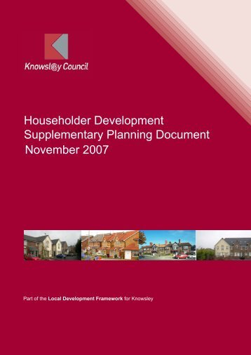 Householder Development Supplementary ... - Knowsley Council