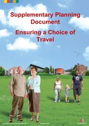 Ensuring A Choice of Travel Supplementary ... - Knowsley Council