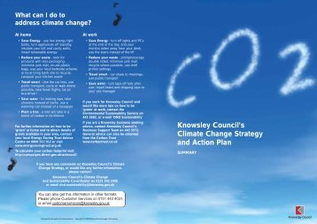 What is Climate Change? - Knowsley Council