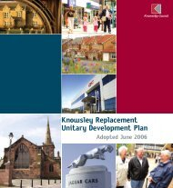 Knowsley Replacement Unitary Development Plan - Knowsley Council