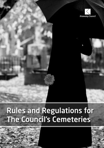Rules and Regulations for The Council's ... - Knowsley Council