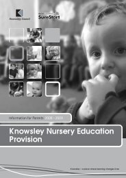 Knowsley Nursery Education Provision - Knowsley Council