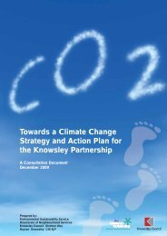Towards a Climate Change Strategy and Action ... - Knowsley Council