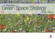 Sub-strategies to Green Space Strategy - Knowsley Council