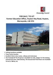 FOR SALE / TO LET Former Education Office ... - Knowsley Council