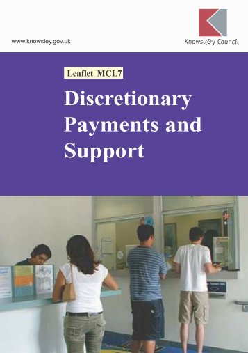 Discretionary payments and support (PDF) - Knowsley Council