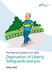 The Mental Capacity Act 2005. Deprivation of Liberty Safeguards ...