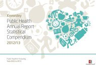 Public Health Annual Report Statistical ... - Knowsley Council
