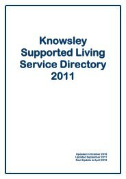 Supported Living Service Directory - Knowsley Metropolitan ...