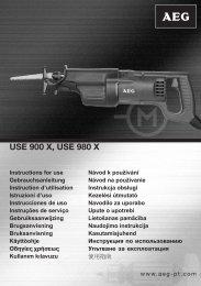 USE 900 X, USE 980 X