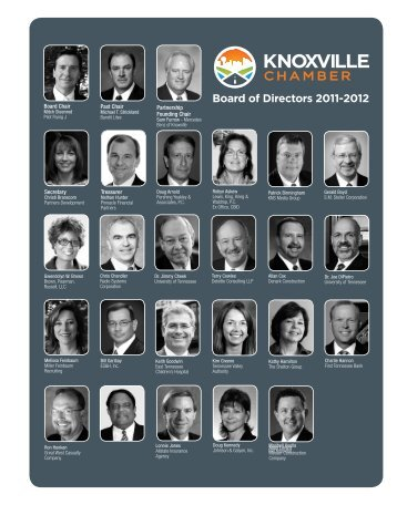 Board of Directors 2011-2012 - Knoxville Chamber of Commerce