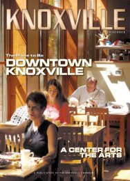DOWNTOWN KNOXVILLE - Knoxville Chamber of Commerce