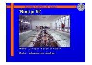 Presentatie website Roei je fit - Koninklijke Nederlandsche Roeibond