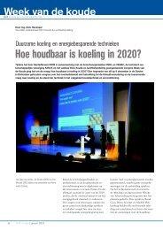 Hoe houdbaar is koeling in 2020? - KNVvK - Koninklijke ...