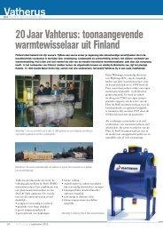 20 Jaar Vahterus: toonaangevende warmtewisselaar uit Finland
