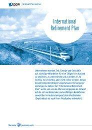 International Retirement Plan - AEGON Global Pensions