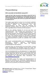 Pressemitteilung - KNX