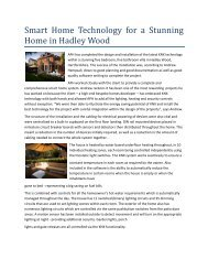 Smart Home Technology for a Stunning Home in Hadley Wood - KNX
