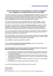 Konnex Association et le Ceced signent un contrat ... - KNX