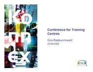 Conference for Training Centres - KNX
