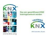 Voordelen voor het trainingscentrum - KNX