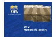 Loi 3 Nombre de joueurs - FIFA.com