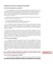 Approche de la FIFA`sur le dopage dans le football - FIFA.com