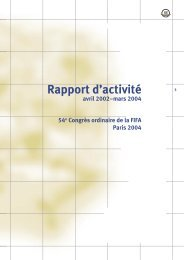 Rapport d'activité 2002-2004 - FIFA.com