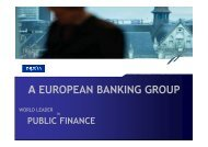 Public & Project Finance