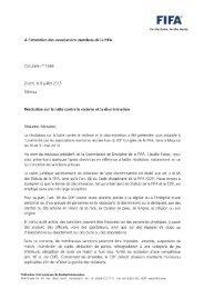 N°1369 - Résolution sur la lutte contre le racisme et la ... - FIFA.com