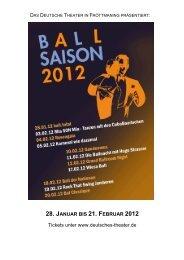 28. JANUAR BIS 21. FEBRUAR 2012 Tickets ... - Deutsches Theater