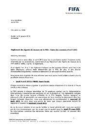 Aux membres de la FIFA Circulaire no. 1339 Zurich, le 31 ... - FIFA.com