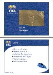 Loi 11 Hors-jeu - FIFA.com