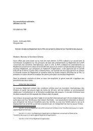Aux associations nationales affiliées à la FIFA Circulaire ... - FIFA.com
