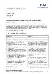 Amendements et corrections apportées aux Lois du Jeu ... - FIFA.com