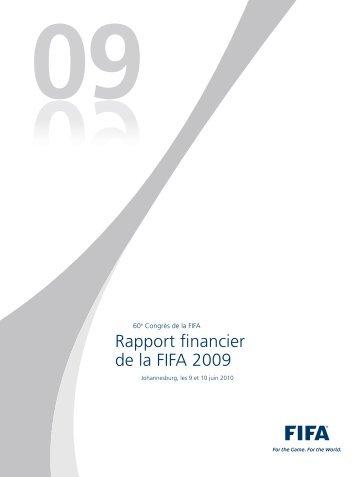Rapport financier de la FIFA 2009 - FIFA.com
