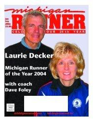 January - March 2005 Event Calendar - Michigan Runner