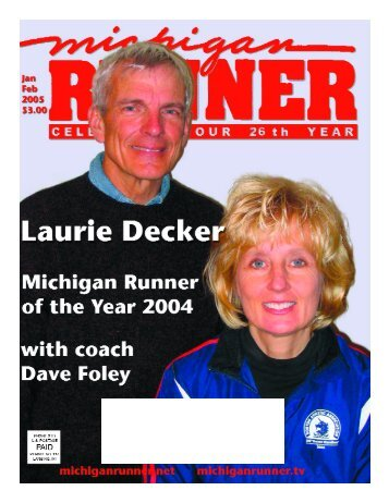 January - March 2005 Event Calendar - Michigan Runner