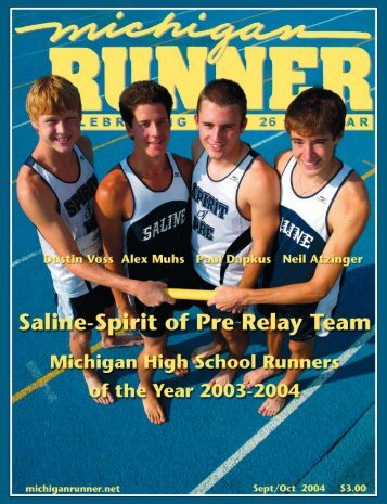 September-November 2004 Event Calendar ... - Michigan Runner