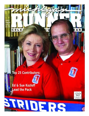 Top 25 Contributors: Ed & Sue Kozloff Lead the ... - Michigan Runner