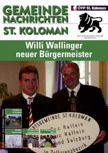 Gemeindezeitung Sommer 2008 (817 KB) - St. Koloman